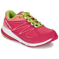 Boty Ženy Běžecké / Krosové boty Salomon SENSE PULSE WOMAN Růžová / Oranžová / Zelená
