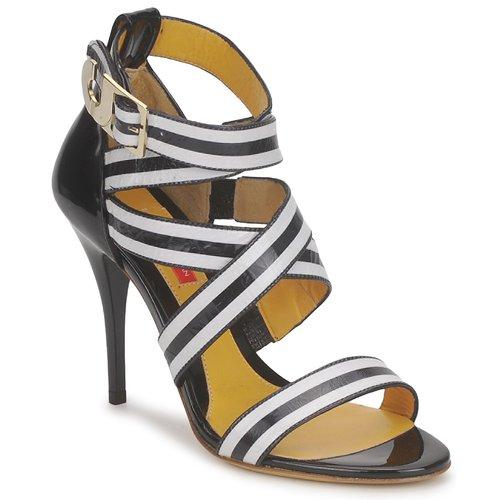 Boty Ženy Sandály Charles Jourdan BARBARA Černá / Bílá