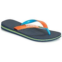 Boty Žabky Havaianas BRASIL MIX Tmavě modrá / Oranžová