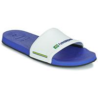Boty Muži pantofle Havaianas SLIDE BRASIL Tmavě modrá / Bílá