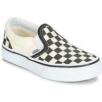 Boty Děti Street boty Vans CLASSIC SLIP-ON Černá / Bílá