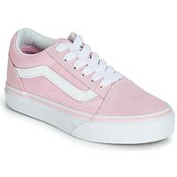 Boty Dívčí Nízké tenisky Vans OLD SKOOL Růžová 82377493042