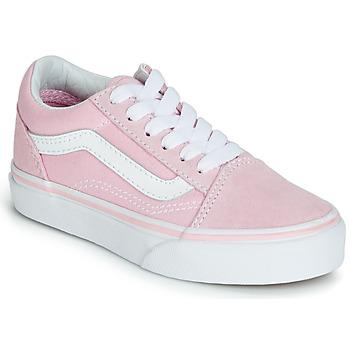Boty Dívčí Nízké tenisky Vans OLD SKOOL Růžová