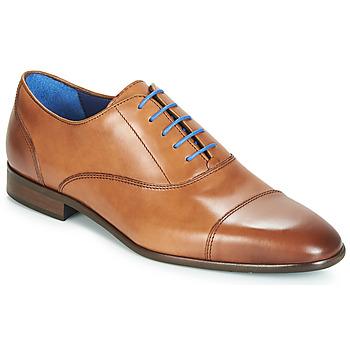 Boty Muži Šněrovací společenská obuv Azzaro RAELAN Zlatohnědá