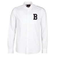 Textil Muži Košile s dlouhymi rukávy Scotch & Soda REGULAR FIT AMS BLAUW OXFORD SHIRT WITH BADGE Bílá