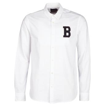 Textil Muži Košile s dlouhymi rukávy Scotch & Soda  Bílá