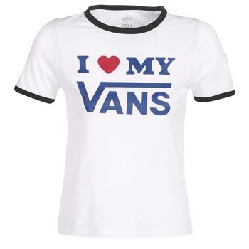 Textil Ženy Trička s krátkým rukávem Vans VANS LOVE RINGER Bílá