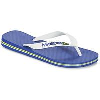 Boty Žabky Havaianas BRASIL LOGO Bílá / Tmavě modrá