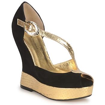Boty Ženy Sandály Terry de Havilland PENNY Černá-zlatá
