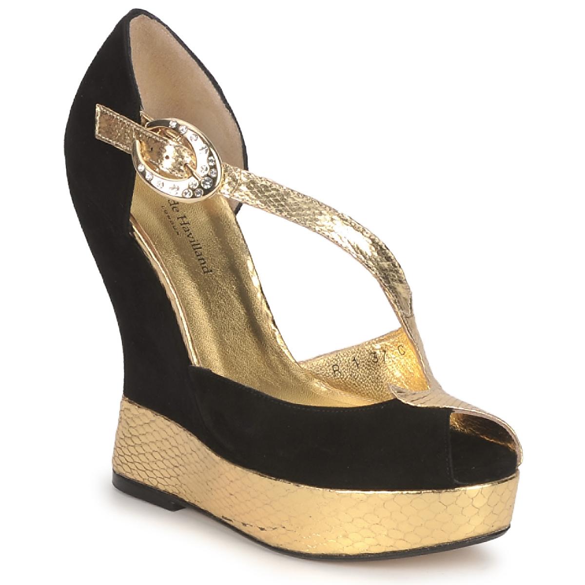 Sandaly Terry de Havilland PENNY Černá-Zlatá