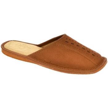 Boty Muži Papuče John-C Pánske hnedé papuče TOM hnedá