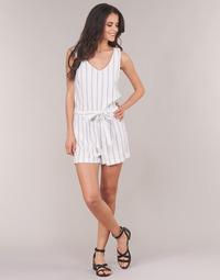 Textil Ženy Overaly / Kalhoty s laclem Vero Moda VMANNA Bílá / Modrá