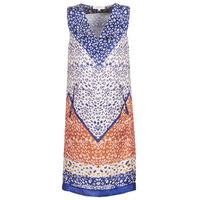 Textil Ženy Krátké šaty Derhy FORTERESSE Bílá / Modrá / Oranžová
