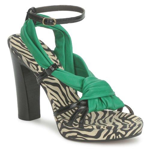 Boty Ženy Sandály Michel Perry 12709 Smaragdově zelená