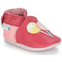 Boty Dívčí Bačkůrky pro miminka Robeez FUNNY SWEETS Růžová / Bílá