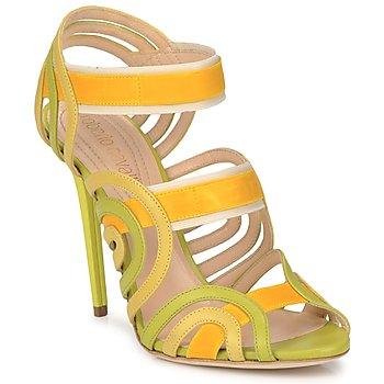 Boty Ženy Sandály Roberto Cavalli RPS691 Zelená / Žlutá