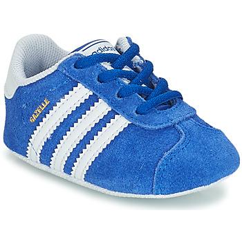 Boty Děti Nízké tenisky adidas Originals GAZELLE CRIB Modrá