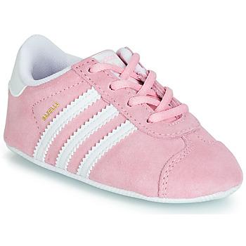 Boty Dívčí Nízké tenisky adidas Originals GAZELLE CRIB Růžová