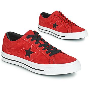 Boty Nízké tenisky Converse ONE STAR DARK STAR VINTAGE SUEDE OX Červená