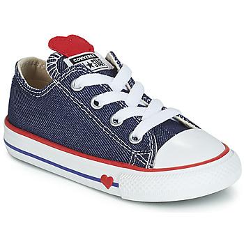 Converse Tenisky Dětské CHUCK TAYLOR ALL STAR SUCKER FOR LOVE DENIM OX -  Modrá 1718c8c7673