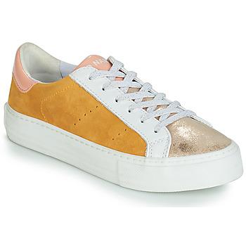 Boty Ženy Nízké tenisky No Name ARCADE Bílá / Zlatá / Žlutá