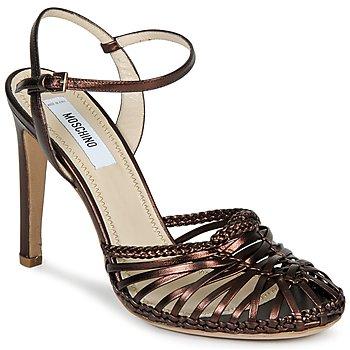 Boty Ženy Sandály Moschino MA1603 Enenová čerň