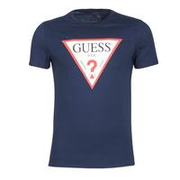Textil Muži Trička s krátkým rukávem Guess ORIGINAL Tmavě modrá