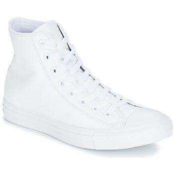 Boty Kotníkové tenisky Converse ALL STAR MONOCHROME CUIR HI Bílá