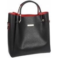 Taška Ženy Kabelky  Grosso Černo-červená elegantní dámská kabelka S728 černá