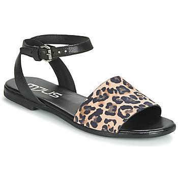 Boty Ženy Sandály Mjus CHAT LEO Černá