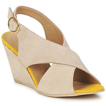 Boty Ženy Sandály Pieces OTTINE SHOP SANDAL Šedobéžová