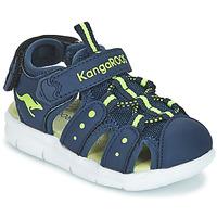 Boty Chlapecké Sandály Kangaroos K-MINI Tmavě modrá / Žlutá