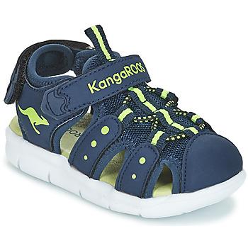 Boty Děti Sandály Kangaroos K-MINI Tmavě modrá / Žlutá