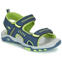 Boty Chlapecké Sandály Kangaroos K-LOGAN Tmavě modrá / Zelená