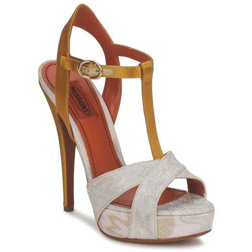 Boty Ženy Sandály Missoni TM30 Zlatá / Stříbrná
