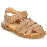 Boty Chlapecké Sandály André RADEAU Béžová