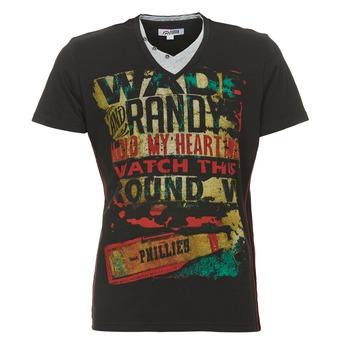Textil Muži Trička s krátkým rukávem Yurban CLIFF Černá