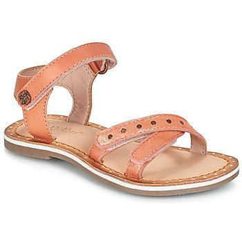 Boty Dívčí Sandály Kickers DIDONC Růžová