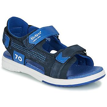 Boty Chlapecké Sandály Kickers PLANE Tmavě modrá