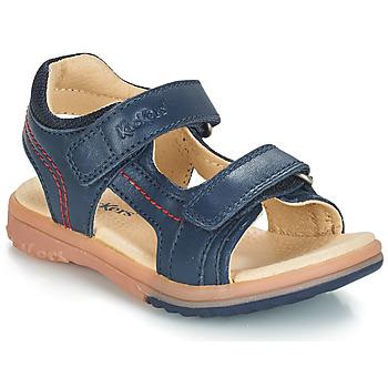 Boty Chlapecké Sandály Kickers PLATINO Tmavě modrá