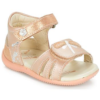 Boty Dívčí Sandály Kickers BESHINE Růžová