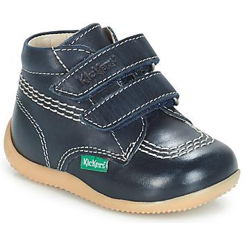 Boty Chlapecké Kotníkové boty Kickers BILLY VELK Tmavě modrá