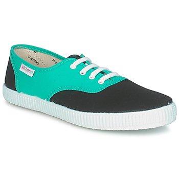 Boty Nízké tenisky Victoria 6651 Modrozelená / Černá
