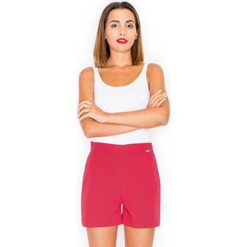 Textil Ženy Kraťasy / Bermudy Katrus Dámské kraťasy K294 red