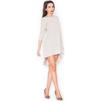 Textil Ženy Krátké šaty Katrus Dámské šaty K141 beige