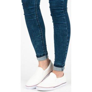 Boty Ženy Street boty Hasby Vkusné bílé nazouvací tenisky
