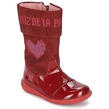 Boty Dívčí Kozačky Agatha Ruiz de la Prada DAFNE Červená