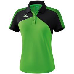 Textil Ženy Polo s krátkými rukávy Erima Polo femme  Premium One 2.0 vert/noir/blanc