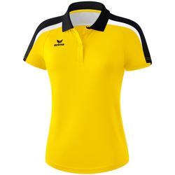 Textil Ženy Polo s krátkými rukávy Erima Polo femme  Liga 2.0 jaune/noir/blanc