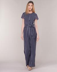 Textil Ženy Overaly / Kalhoty s laclem MICHAEL Michael Kors MEGA RAILRD ST  JMPST Tmavě modrá / Bílá